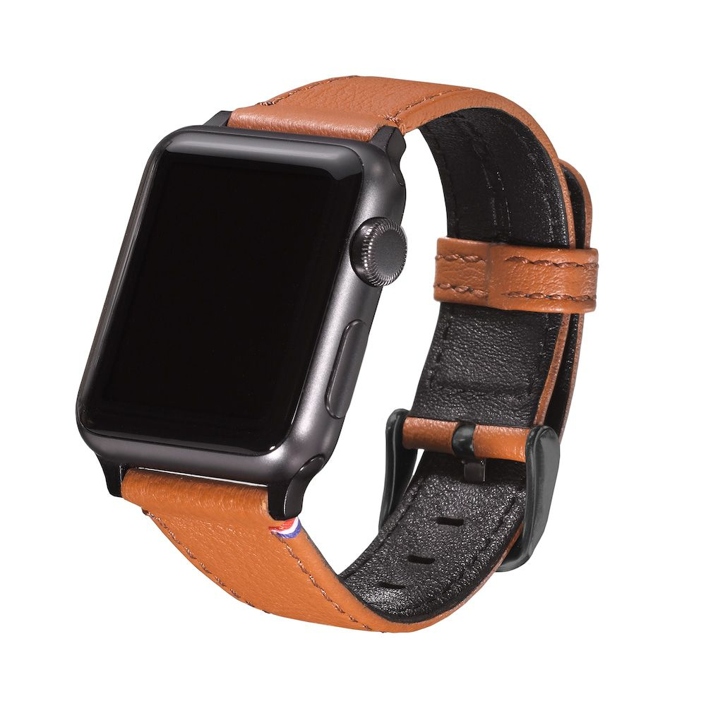 Horlogeband Decoded Leather Apple Watch Strap 38mm Brown