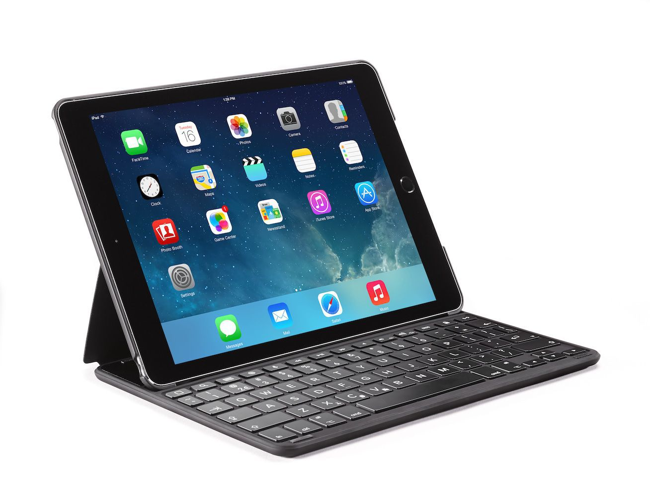 Decoded Leather Bluetooth Keyboard Case iPad Air 2 Qwerty Bruin