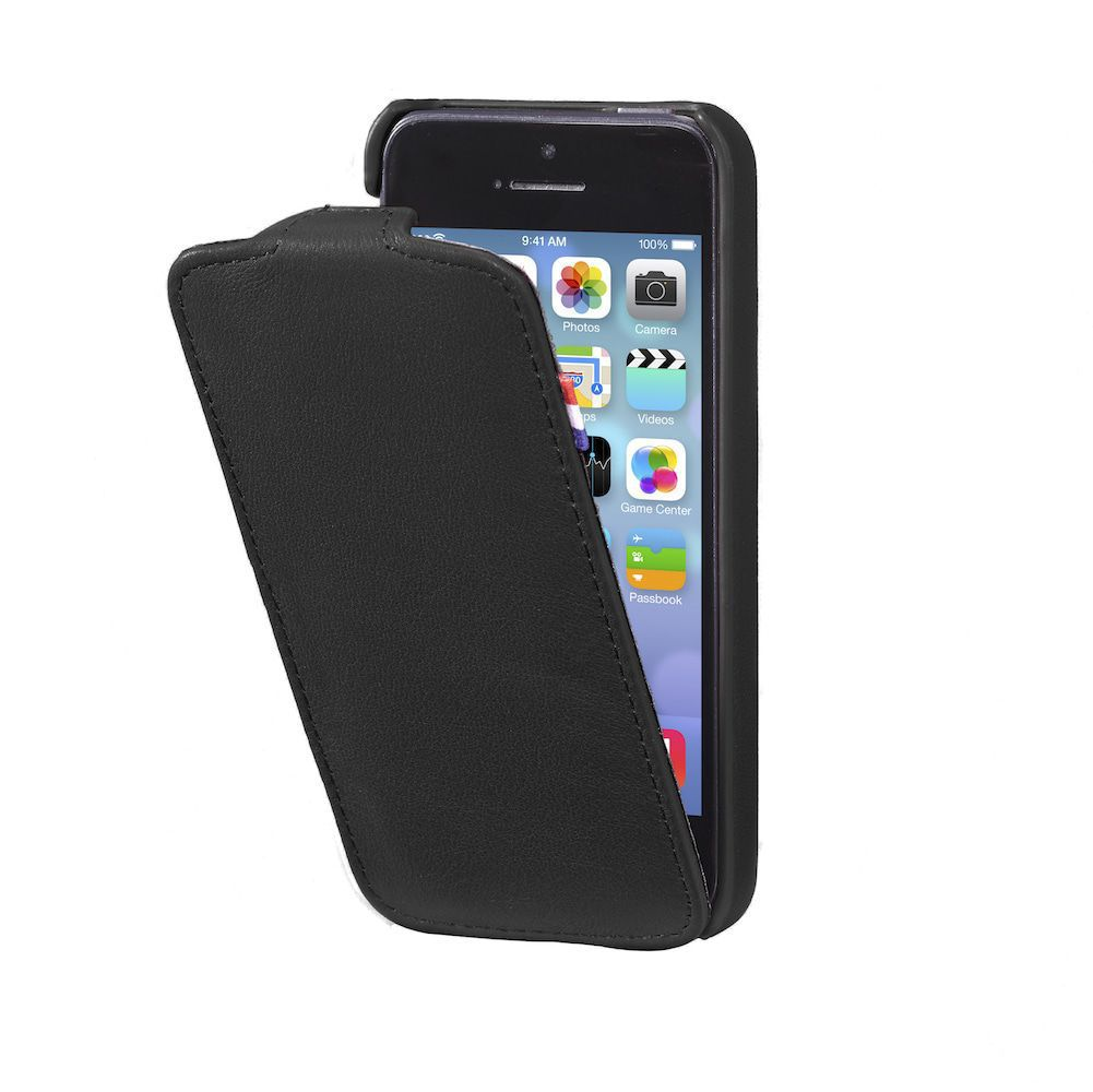 Decoded Leather Flipcase Apple iPhone 5 / 5S Black