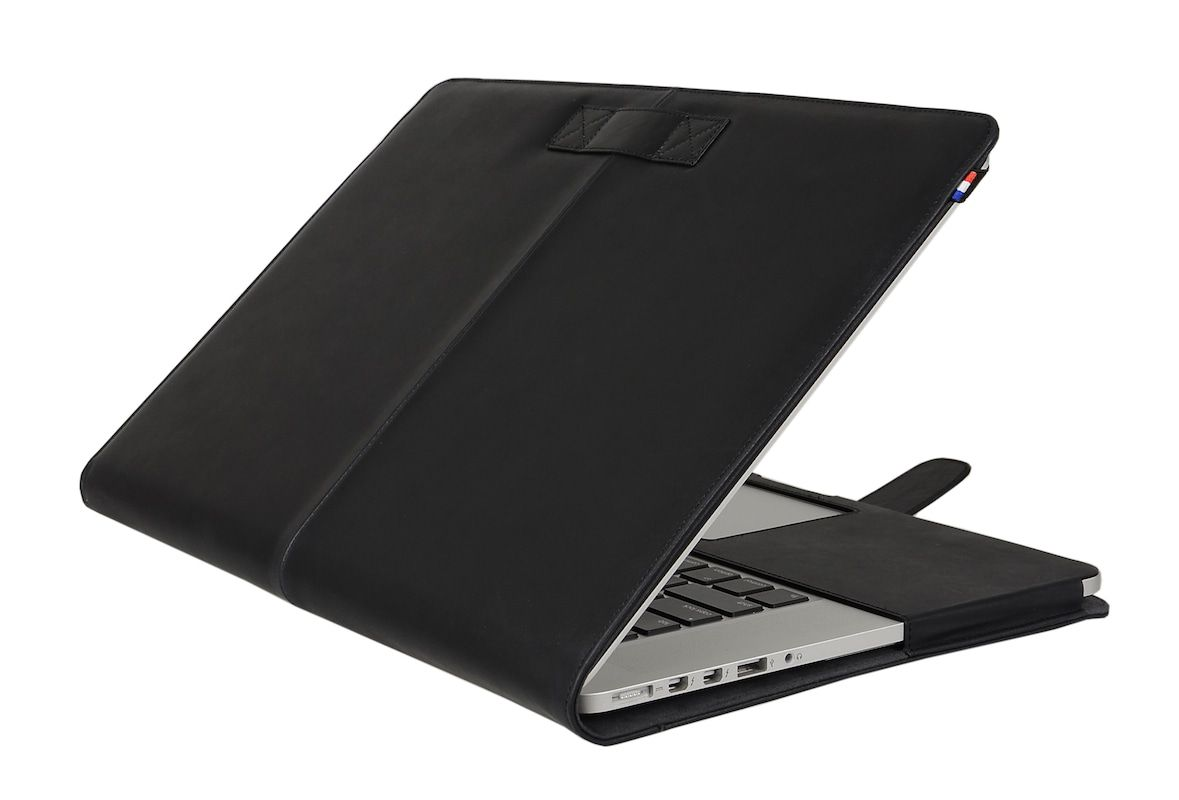 Laptophoes Decoded Leather Sleeve MacBook Pro 15 inch Retina Black Strap
