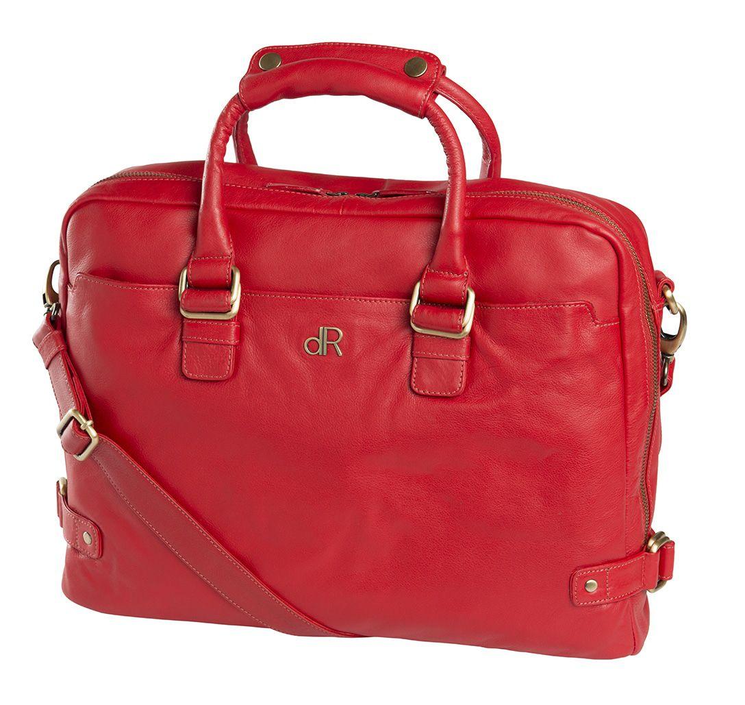 de Rooy dR Amsterdam Faggio Dames Werktas 15 inch Red