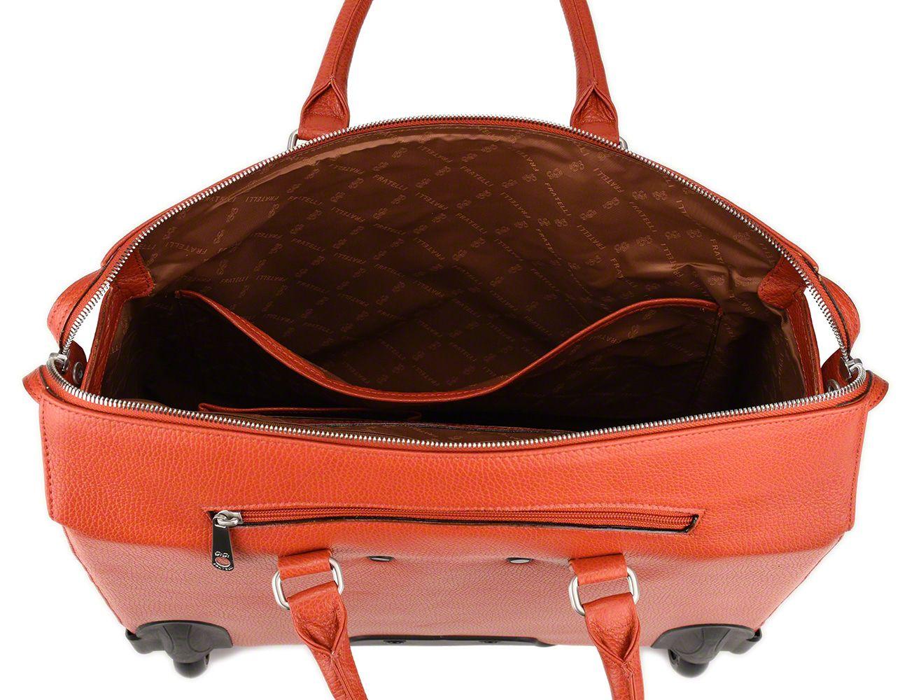 Trolley Gigi Fratelli Dames Leren Laptop Trolley 15.6 inch Romance Business ROM8015 Oranje