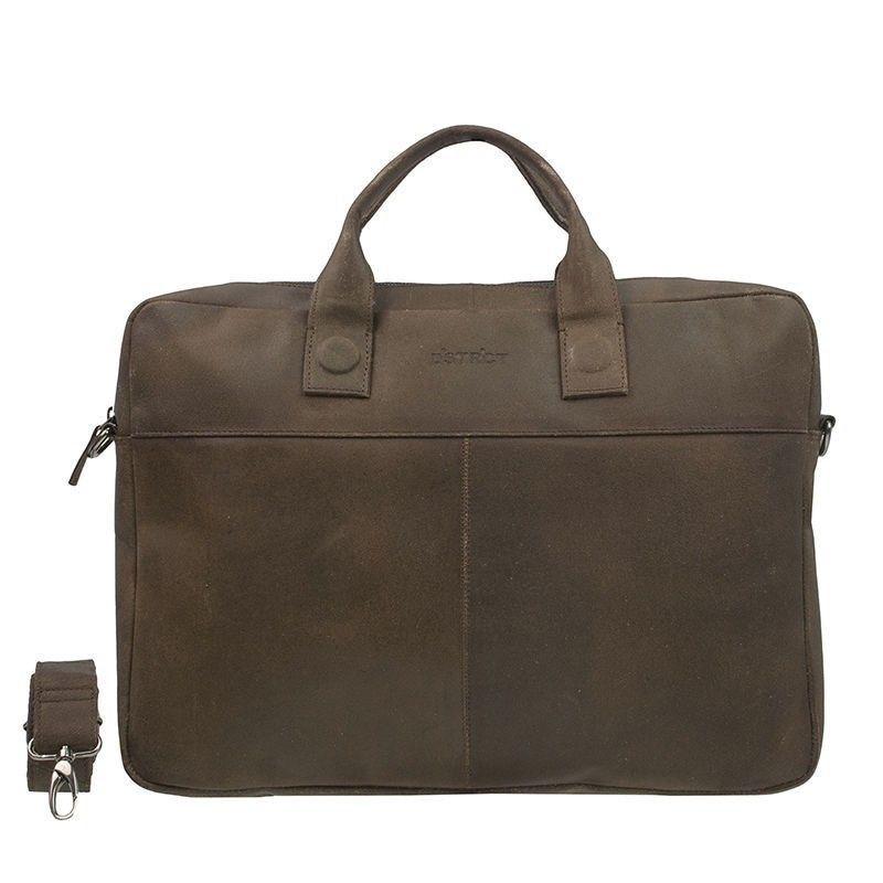 DSTRCT Fletcher Street Business Bag Brown 15-17 inch