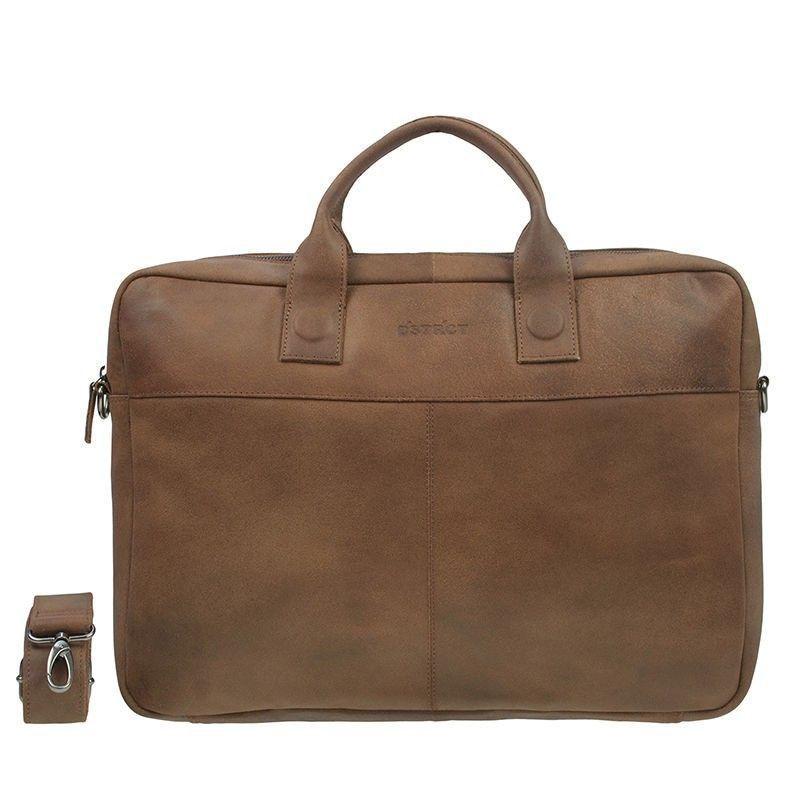 DSTRCT Fletcher Street Business Bag Cognac 15-17 inch