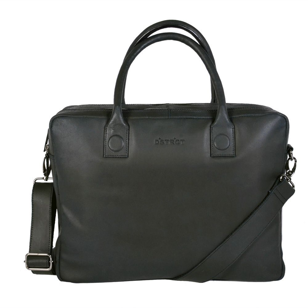 DSTRCT Fletcher Street Business Laptop Bag Black 15 inch