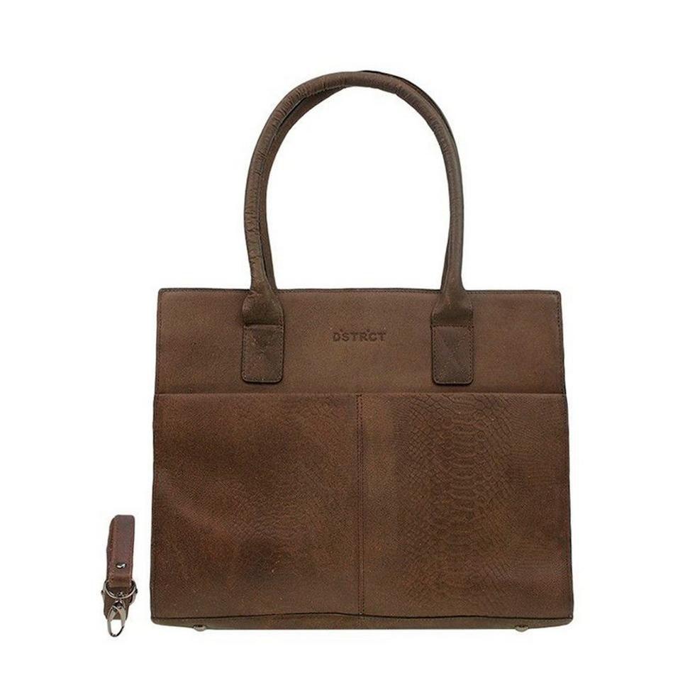 DSTRCT Fletcher Street Dames Laptop Bag Anaconda Brown 13-15 inch