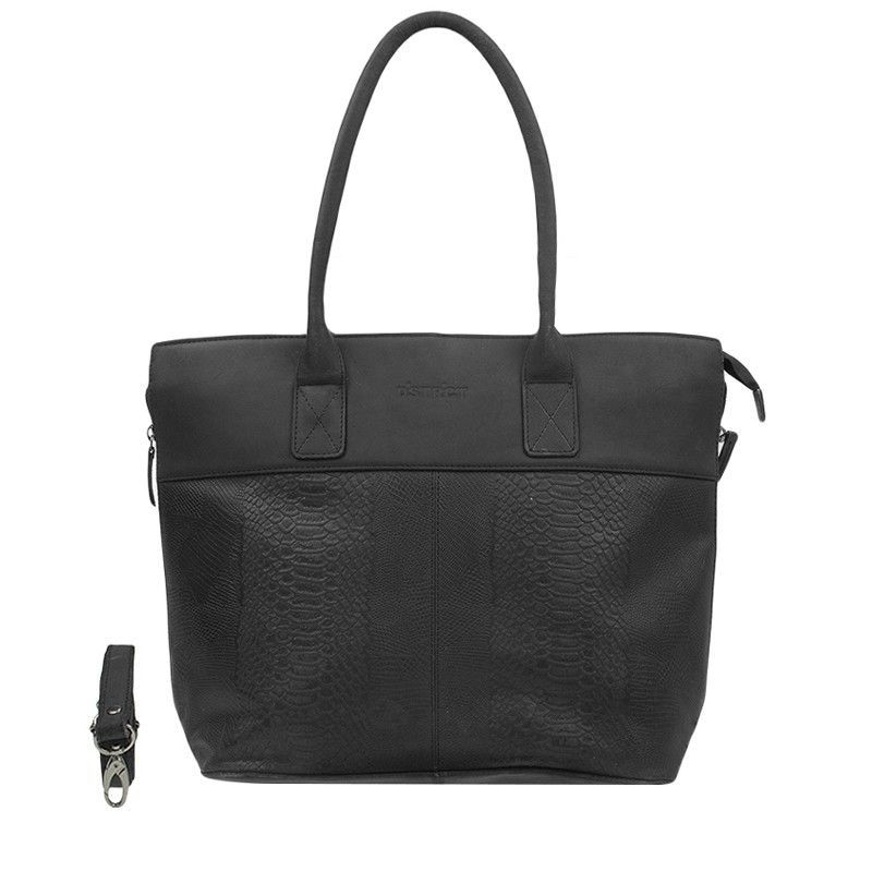 DSTRCT Fletcher Street Dames Laptop Tote Anaconda Black 15 inch