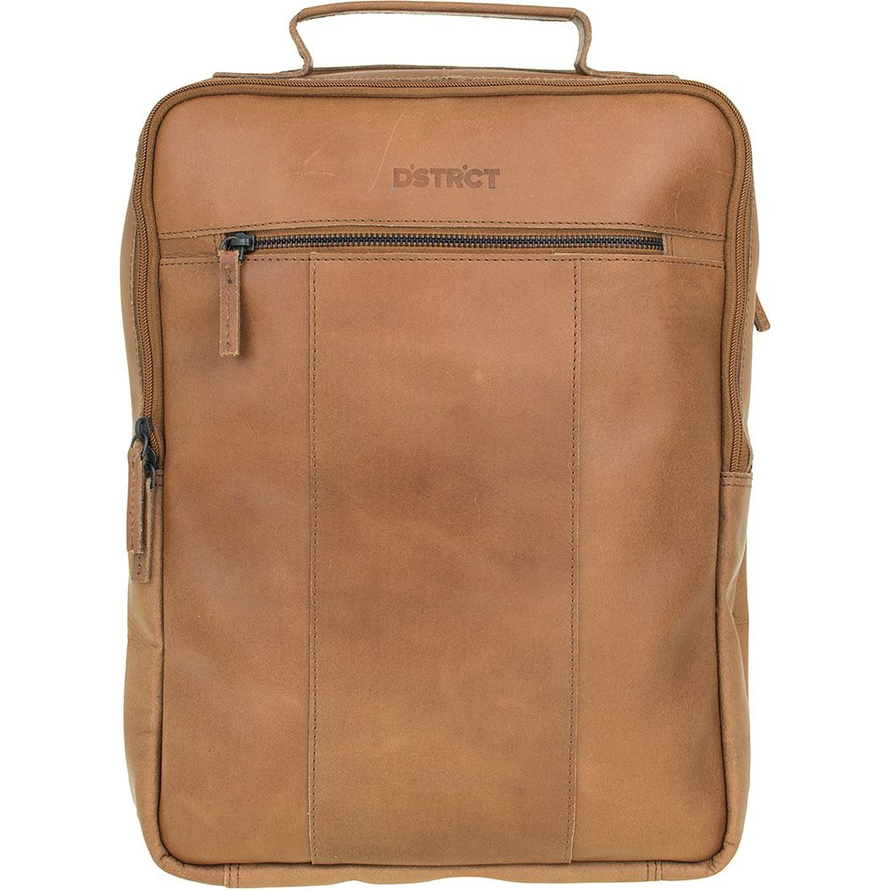 DSTRCT Leren Laptop Rugzak 15 inch River Side Cognac