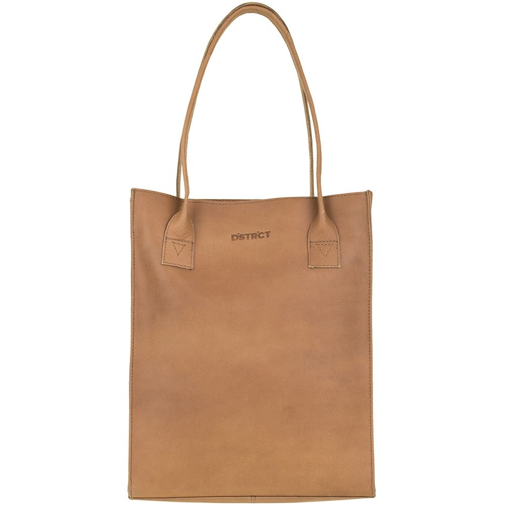 Laptoptas DSTRCT Leren Shopper 12 inch River Side Cognac