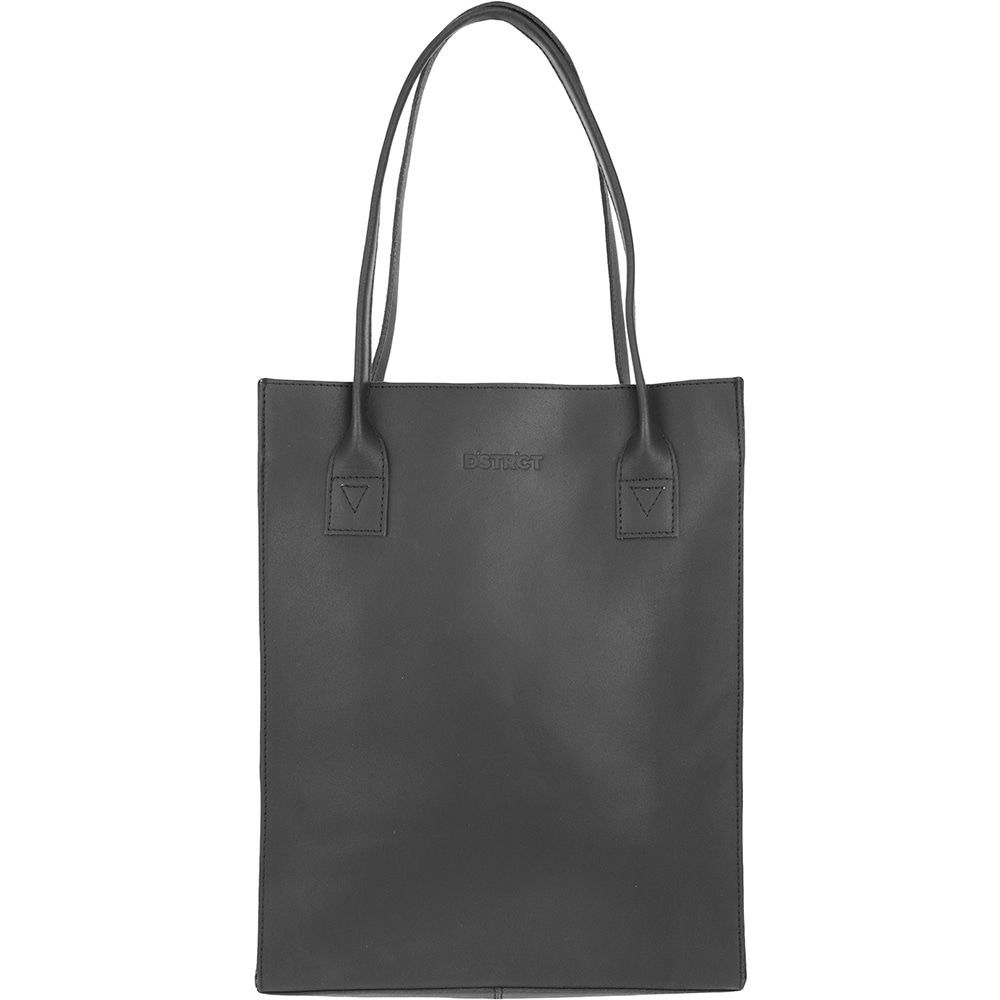 Laptoptas DSTRCT Leren Shopper 12 inch River Side Zwart