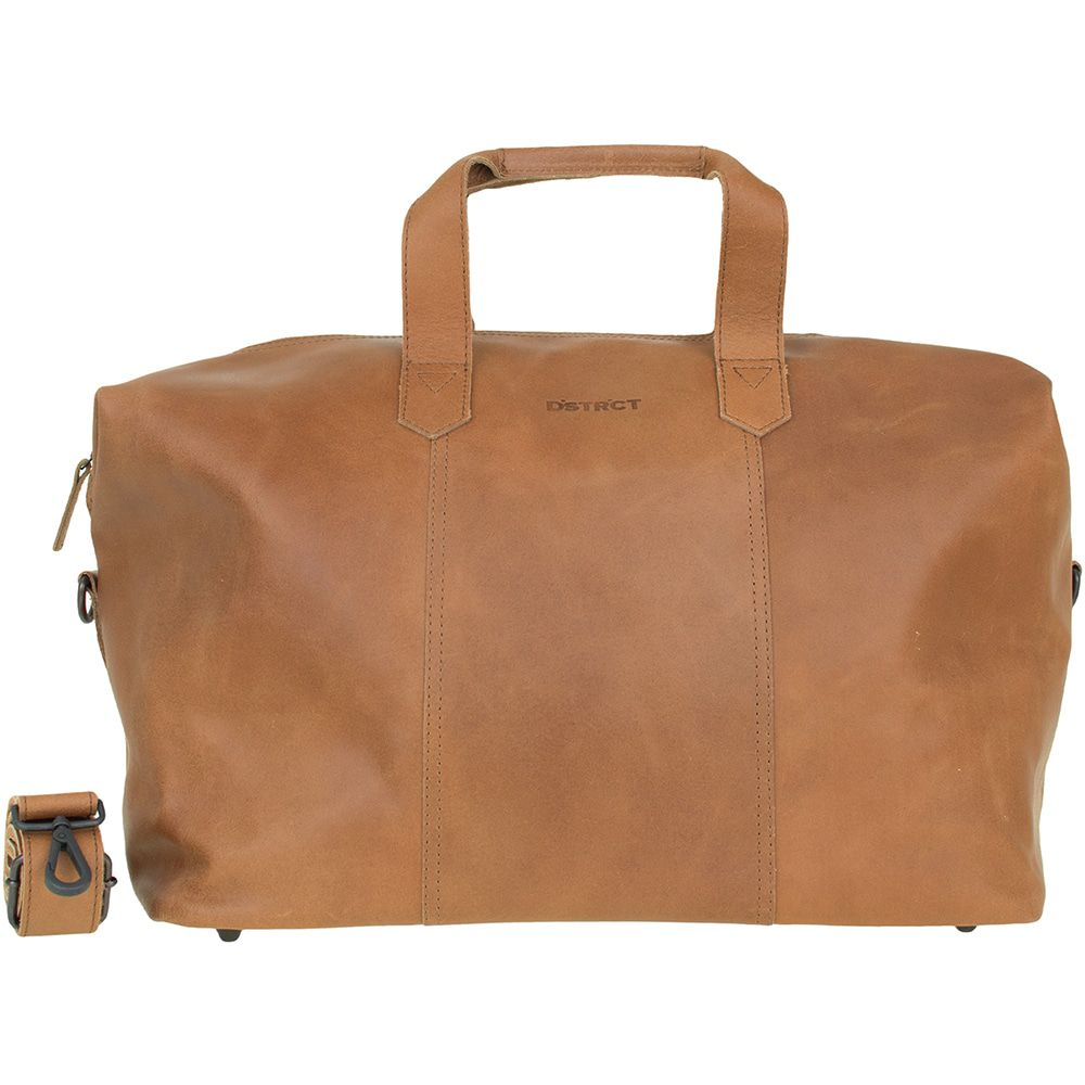 DSTRCT Leren Weekend Tas River Side Cognac