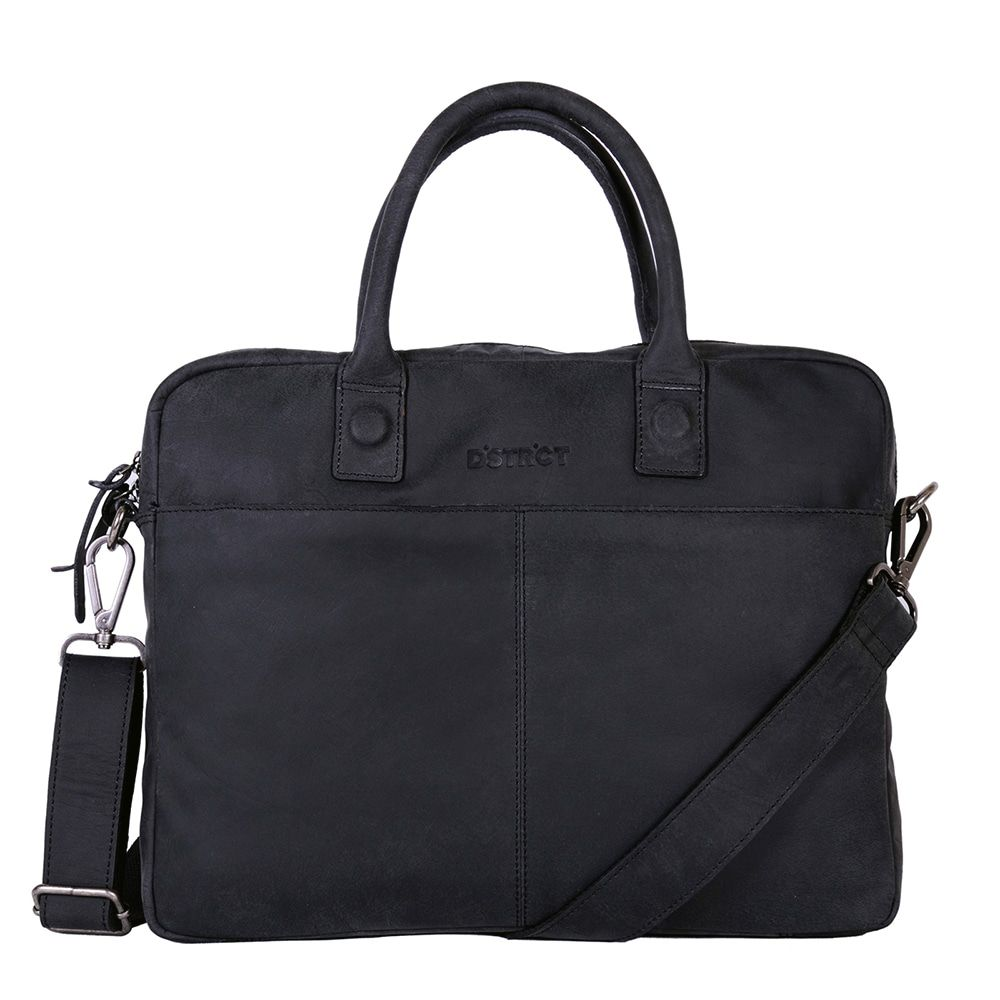 DSTRCT Wall Street Laptop Bag Black 11-14 inch