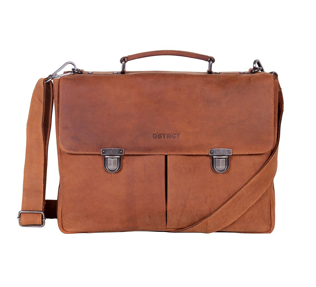 DSTRCT Wall Street Business Bag Classic Cognac 11-15 inch
