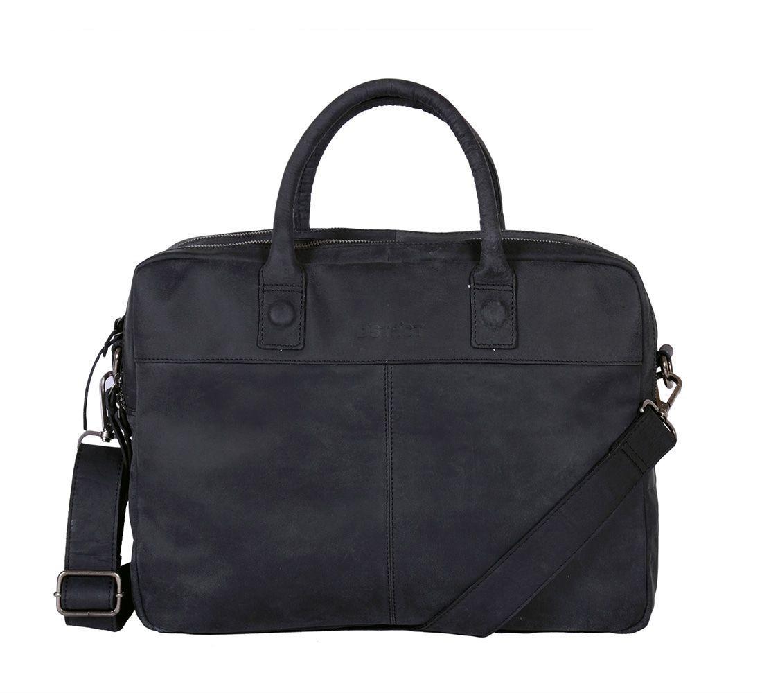 DSTRCT Wall Street Business Laptop Bag Black 13-15 inch