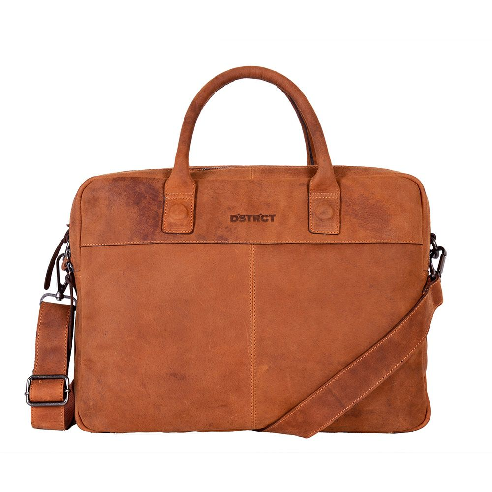 DSTRCT Wall Street Business Laptop Bag Cognac 13-15 inch