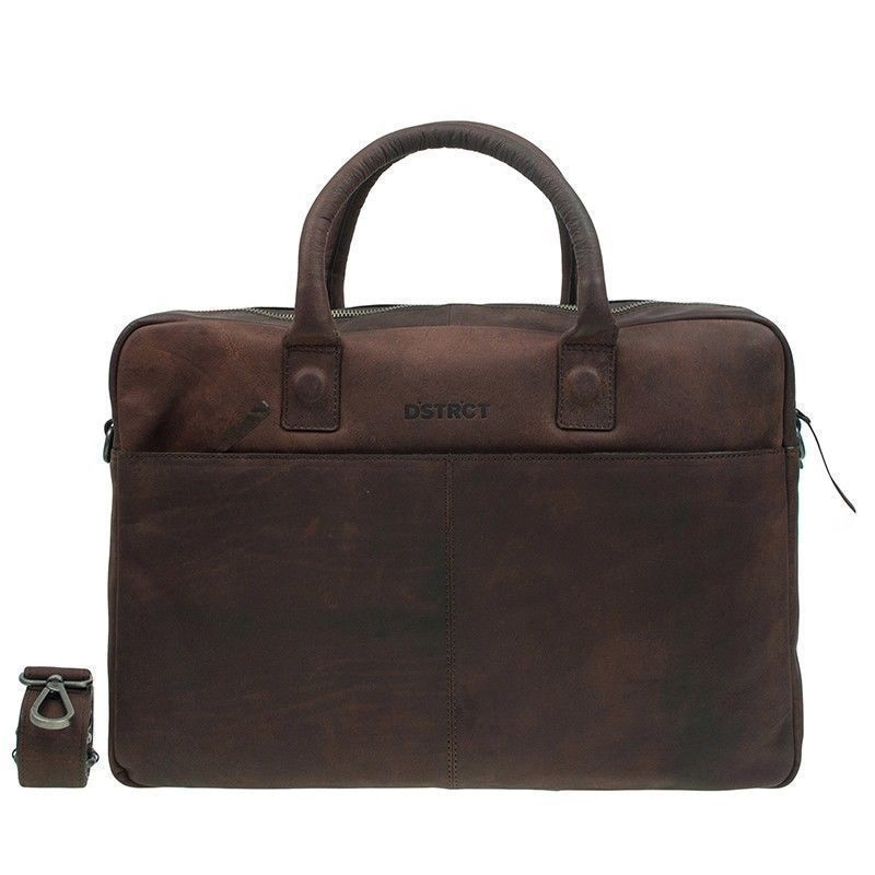 DSTRCT Wall Street Business Bag Brown 15-17 inch