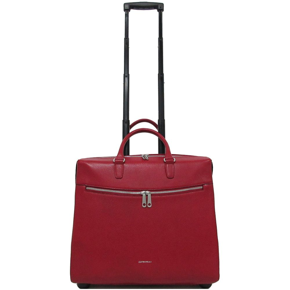 Trolley Gigi Fratelli Dames Leren Laptop Trolley 15.6 inch Romance Business ROM8015 Rood