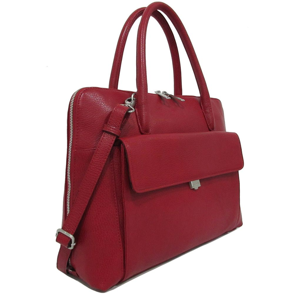 Laptoptas Gigi Fratelli Dames Leren Laptoptas 13.3 inch Romance Business ROM8013 Rood