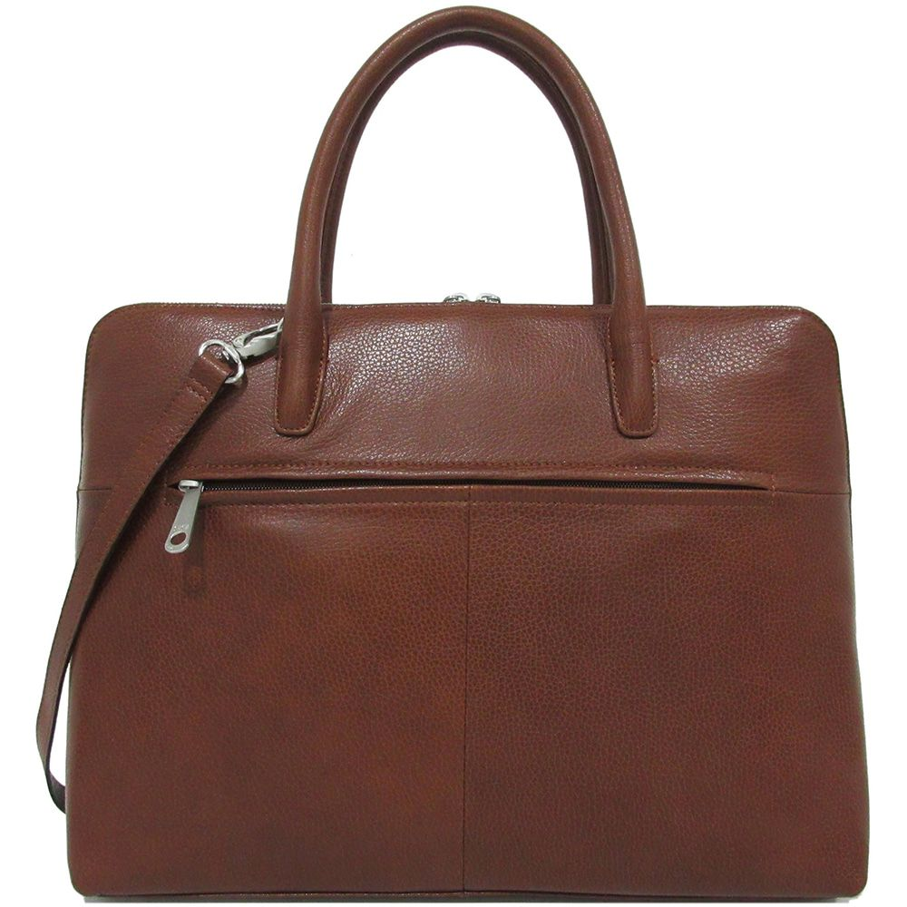 Laptoptas Gigi Fratelli Dames Leren Laptoptas 13.3 inch Romance Business ROM8013 Brandy