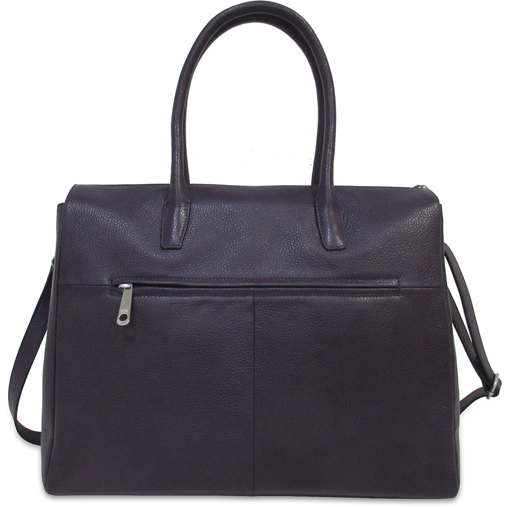 Business Bag Gigi Fratelli Dames Leren Schoudertas iPad Romance Business ROM8005 Dark Violet