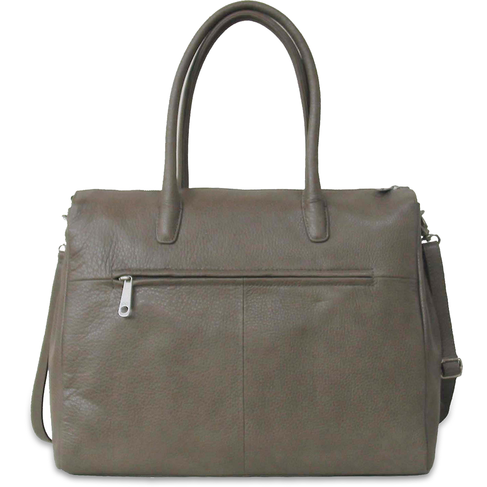 Business Bag Gigi Fratelli Dames Leren Schoudertas iPad Romance Business ROM8005 Taupe