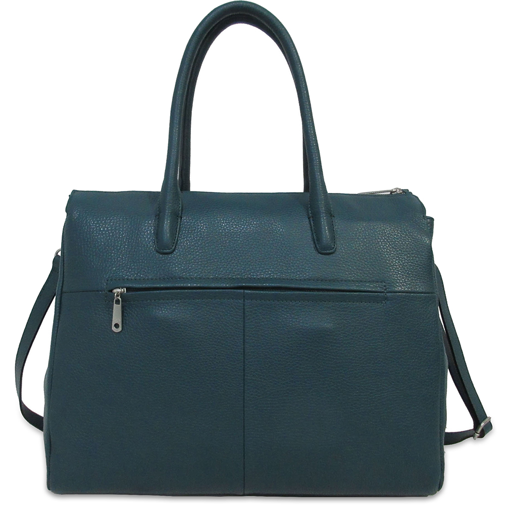 Business Bag Gigi Fratelli Dames Leren Schoudertas iPad Romance Business ROM8005 Teal Groenblauw