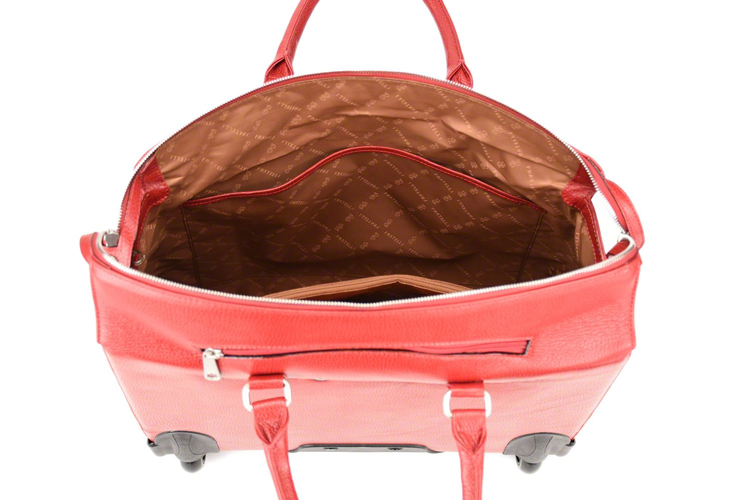 Trolley Gigi Fratelli Dames Leren Laptop Trolley 15.6 inch Romance Business ROM8015 Rood