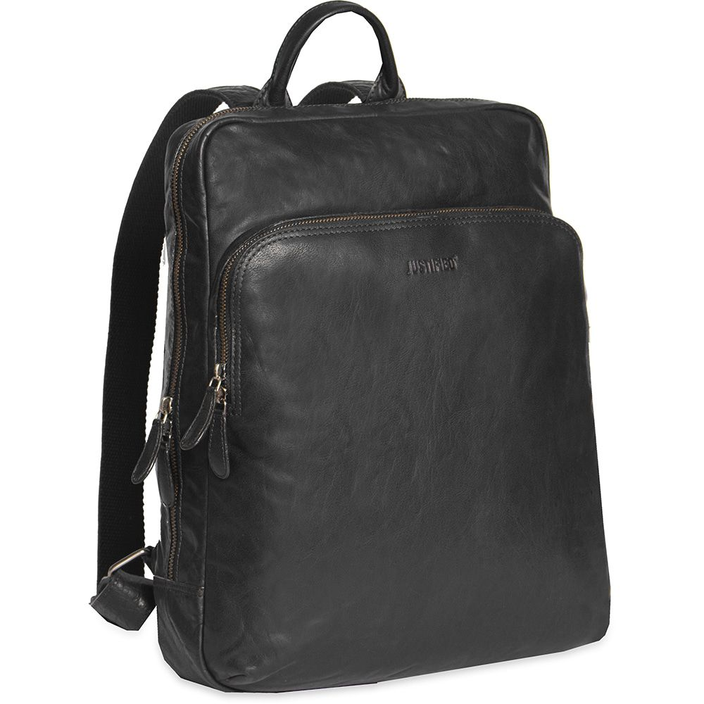 cc8a6f9a5be Justified Leren Laptop Rugzak 13 Inch Everest Zwart justified kopen in de  aanbieding