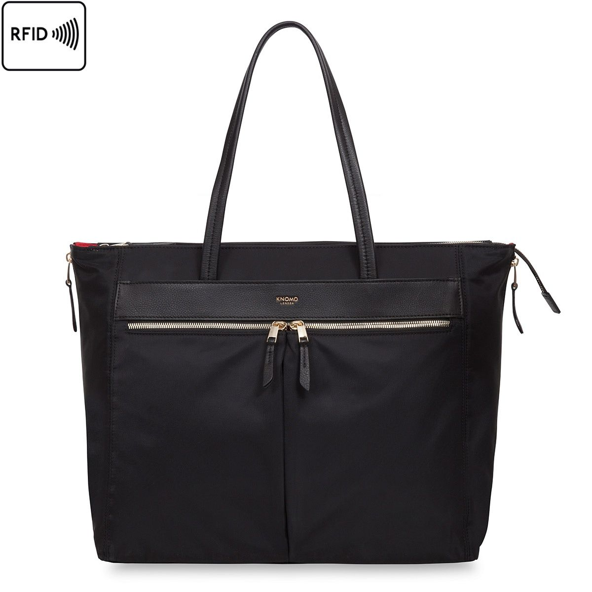 Laptoptas dames Knomo Grosvenor Place Expandable Tote Black 15 inch
