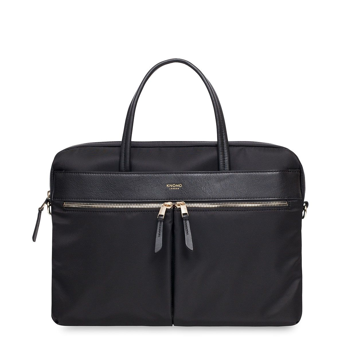 Laptoptas Knomo Hanover Slim Briefcase Black 14 inch