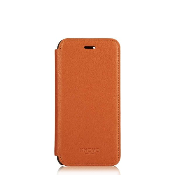 iPhone hoesje Knomo iPhone 6/6S Plus Leather Folio Case Brown