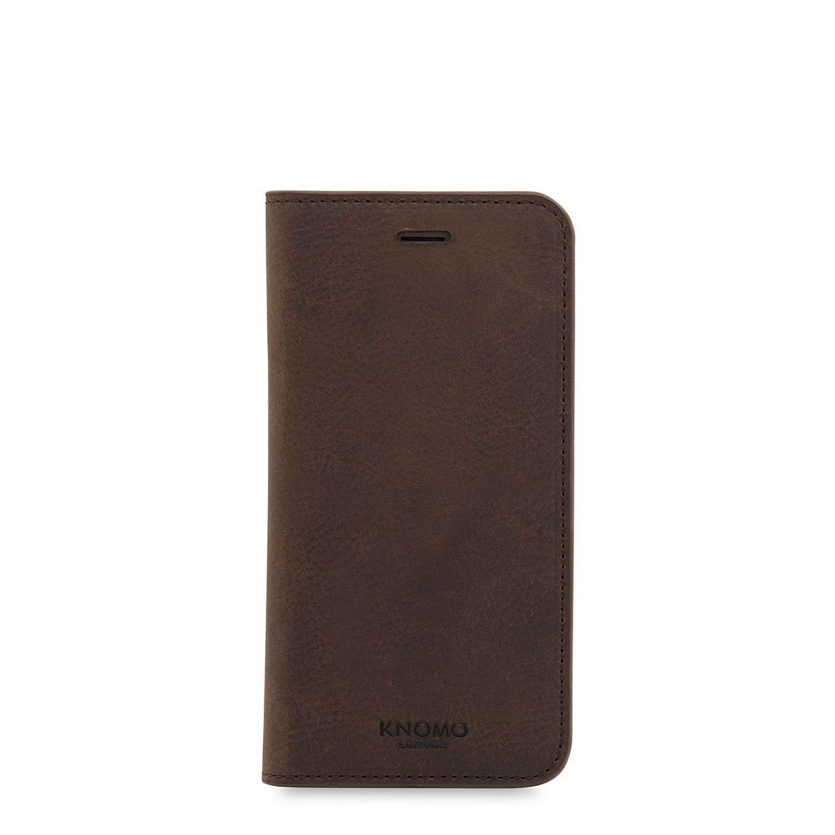 iPhone hoesje Knomo iPhone 8/7 Hoesje Leather Premium Folio Brown