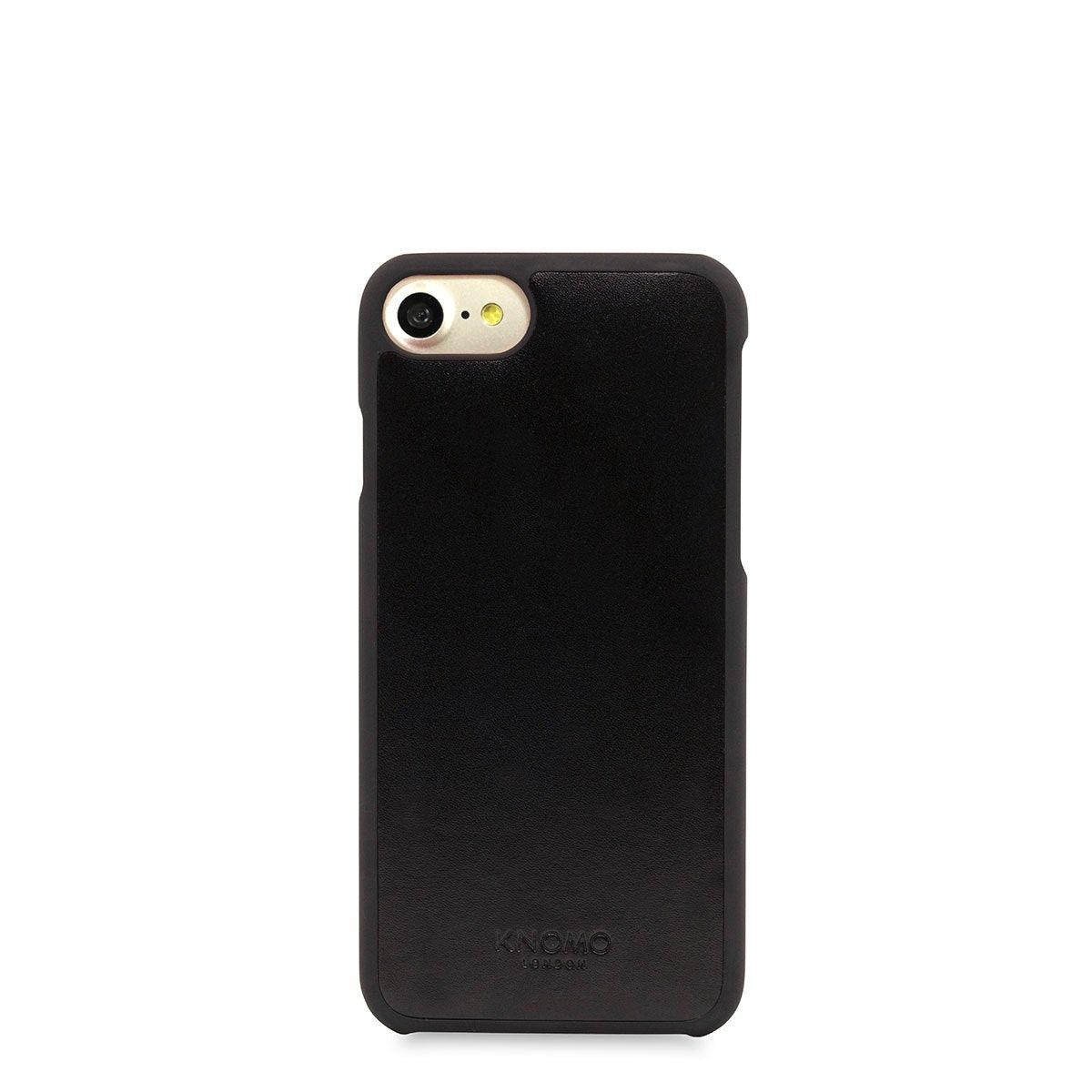 iPhone hoesje Knomo iPhone 8/7 Hoesje Leather Snap On Case Black