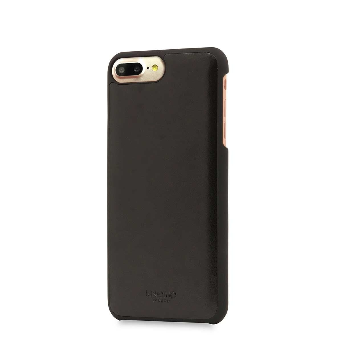 iPhone hoesje Knomo iPhone 8/7 Plus Hoesje Leather Snap On Case Black
