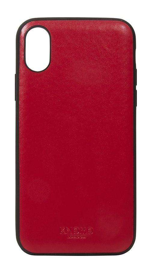 iPhone hoesje Knomo iPhone X Leather Snap On Case Chili