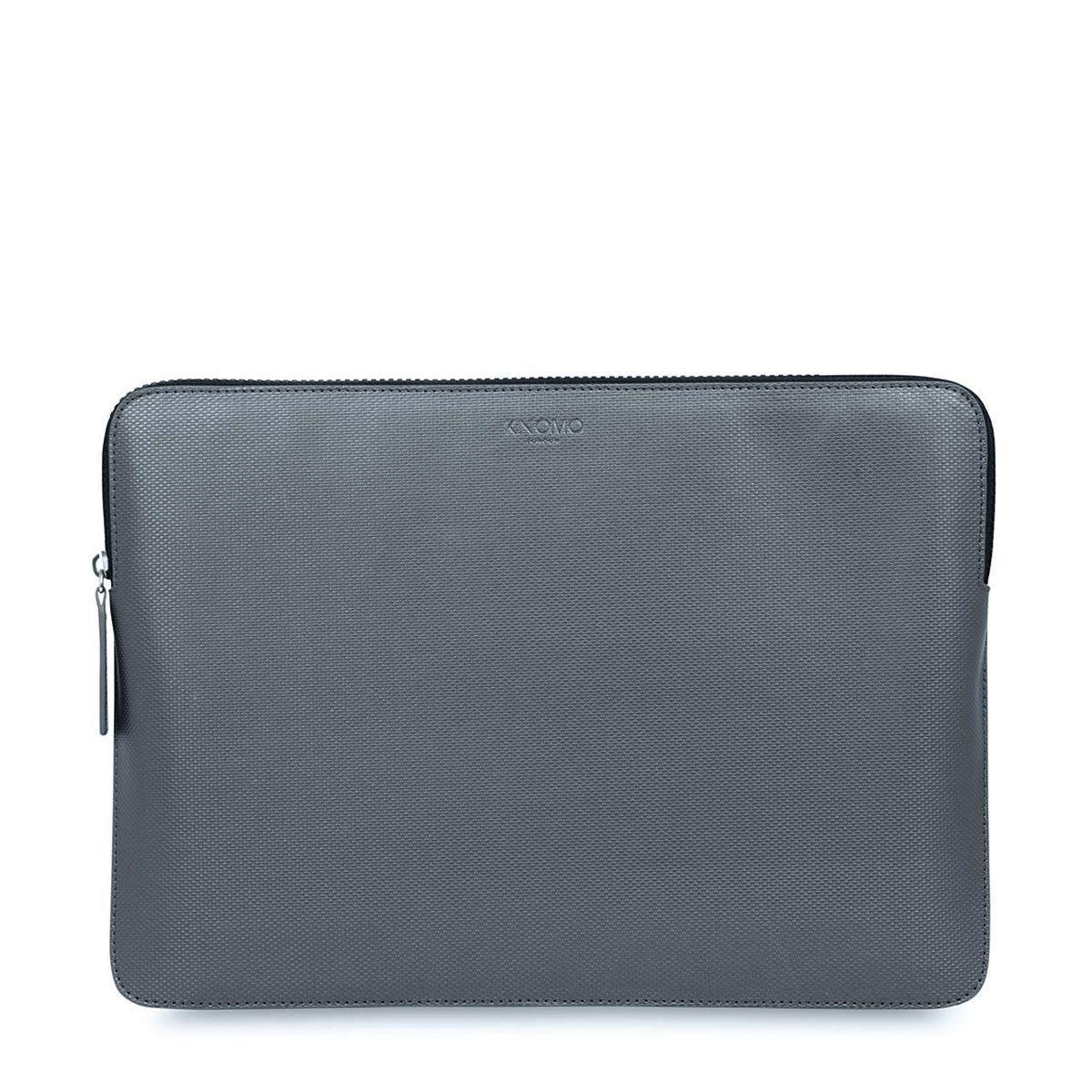 Knomo Laptop Sleeve Embossed Silver 13 inch
