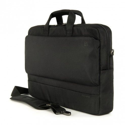 Laptop en iPad tas Tucano Dritta Slim 17 inch Black