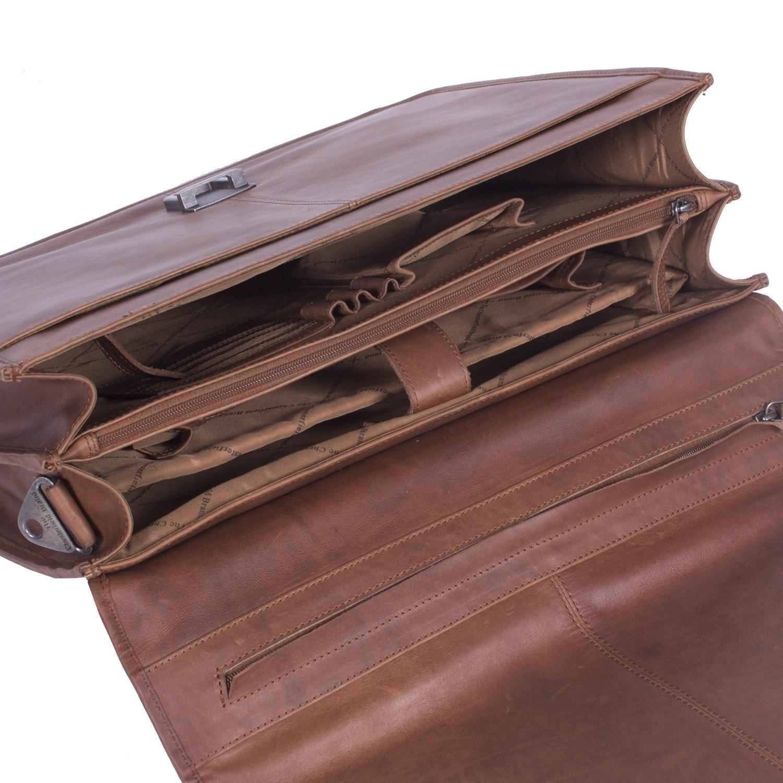 Chesterfield Leren Laptoptas Aktetas 15.6 inch Shay Cognac