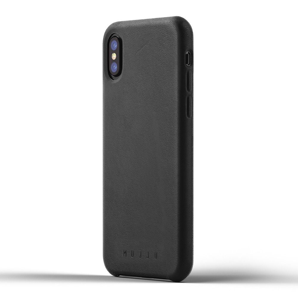 Mujjo Leather Case iPhone X Black
