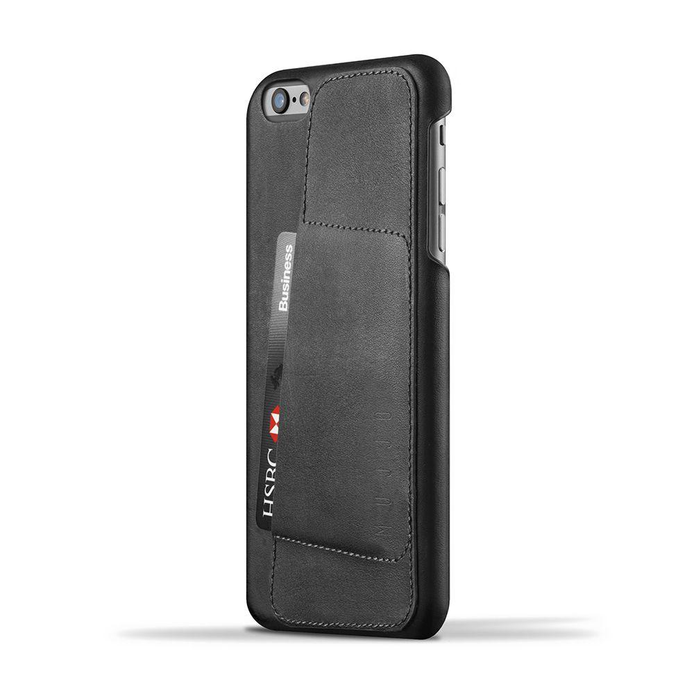 iPhone hoesje Mujjo Leather Wallet Case 80� iPhone 6-6S Plus Black