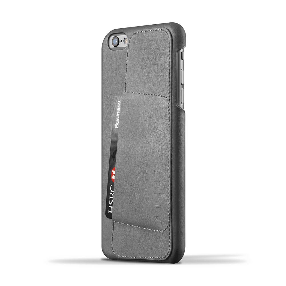 iPhone hoesje Mujjo Leather Wallet Case 80� iPhone 6-6S Plus Gray