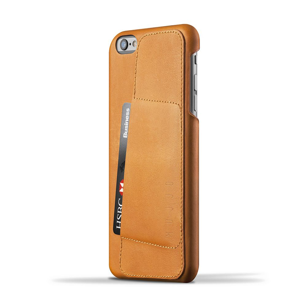 iPhone hoesje Mujjo Leather Wallet Case 80� iPhone 6-6S Plus Tan