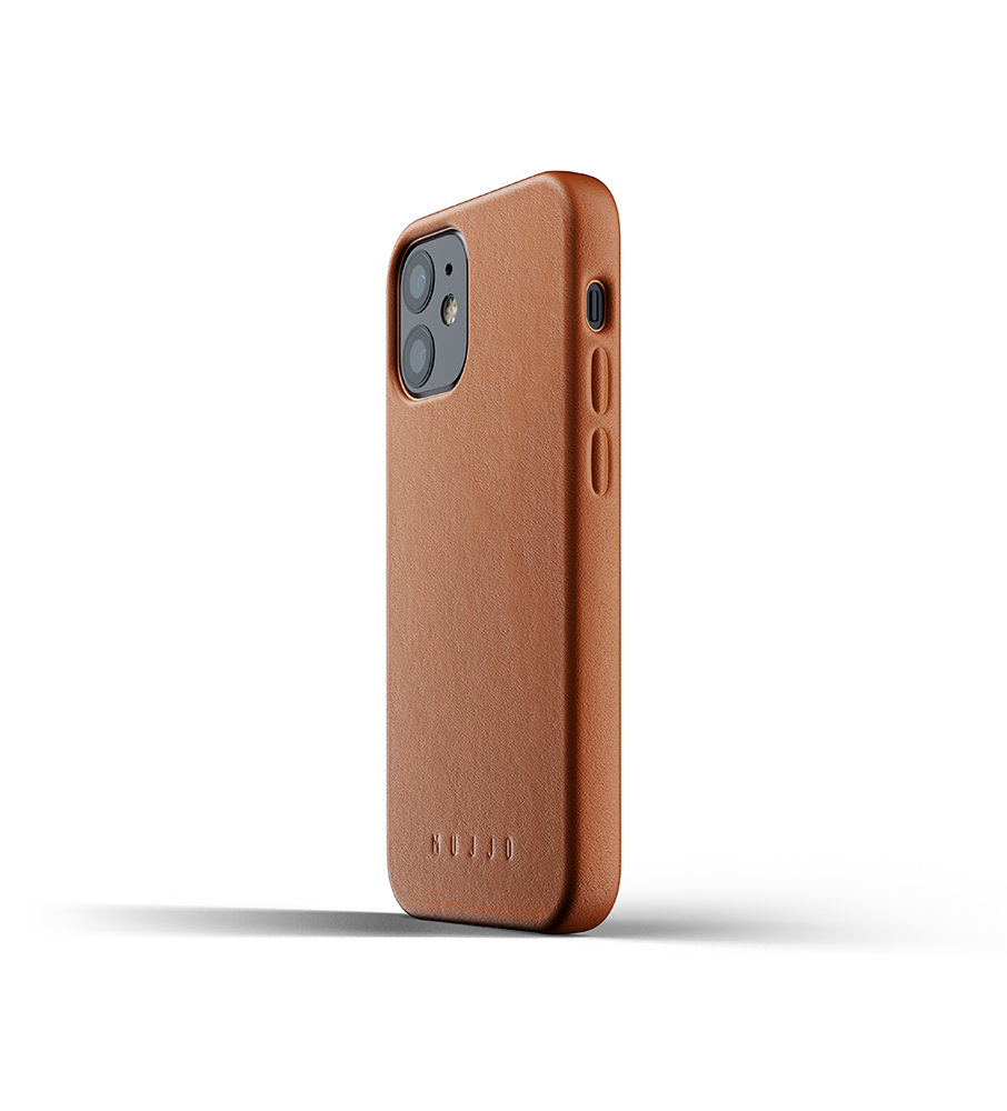 Mujjo Leren iPhone 12 mini Hoesje Tan