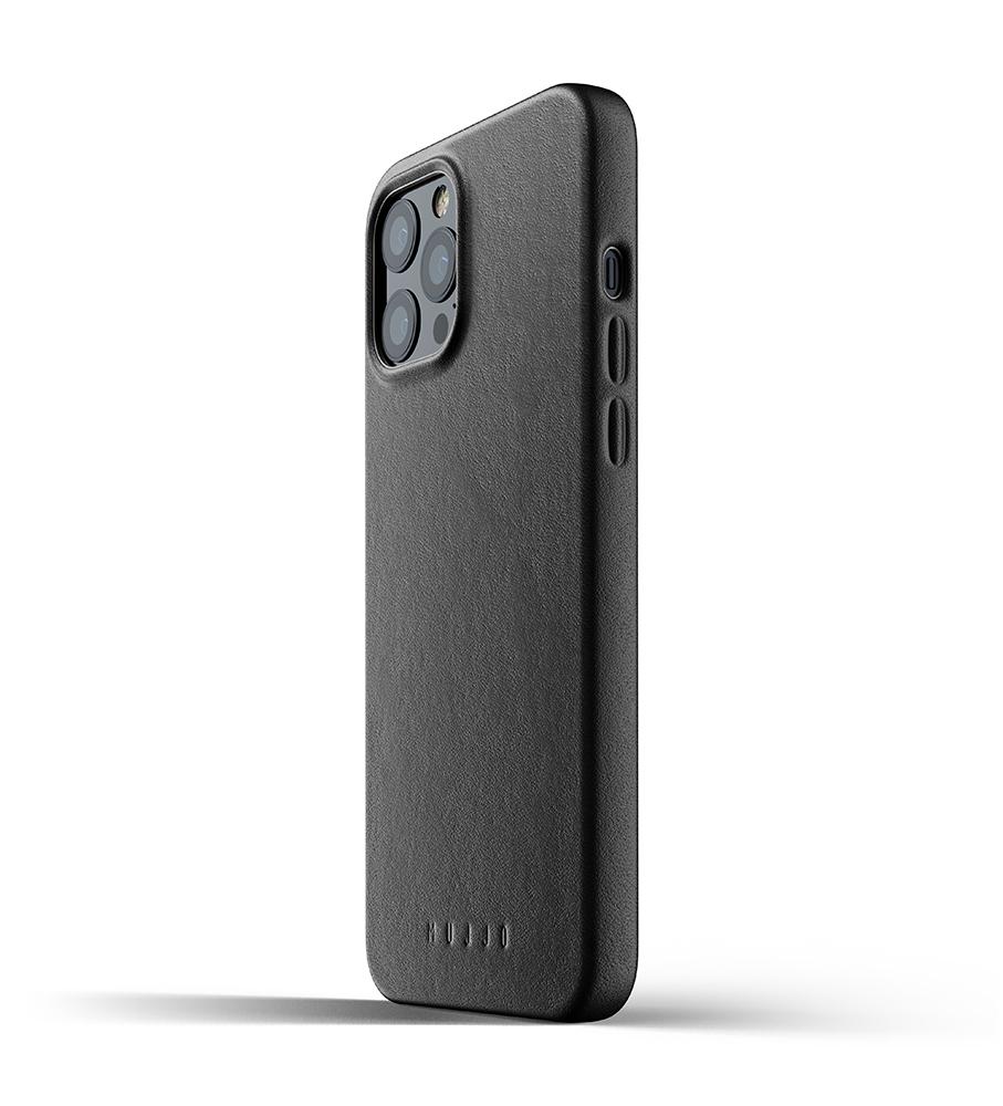 Mujjo Leren iPhone 12 Pro Max Hoesje Zwart