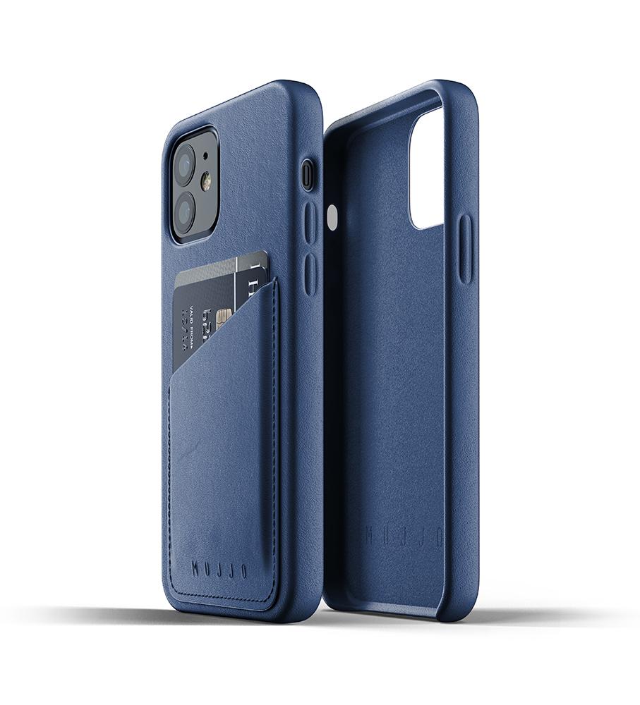 Mujjo Leren Wallet Case iPhone 12 & 12 Pro Hoesje Blauw