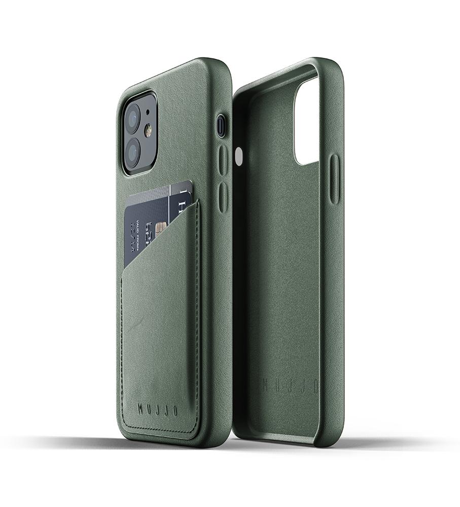 Mujjo Leren Wallet Case iPhone 12 & 12 Pro Hoesje Groen
