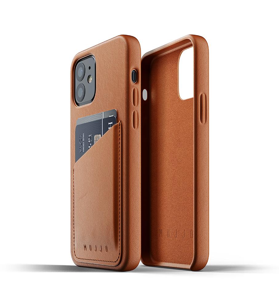 Mujjo Leren Wallet Case iPhone 12 & 12 Pro Hoesje Tan