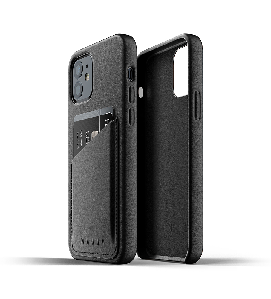 Mujjo Leren Wallet Case iPhone 12 & 12 Pro Hoesje Zwart