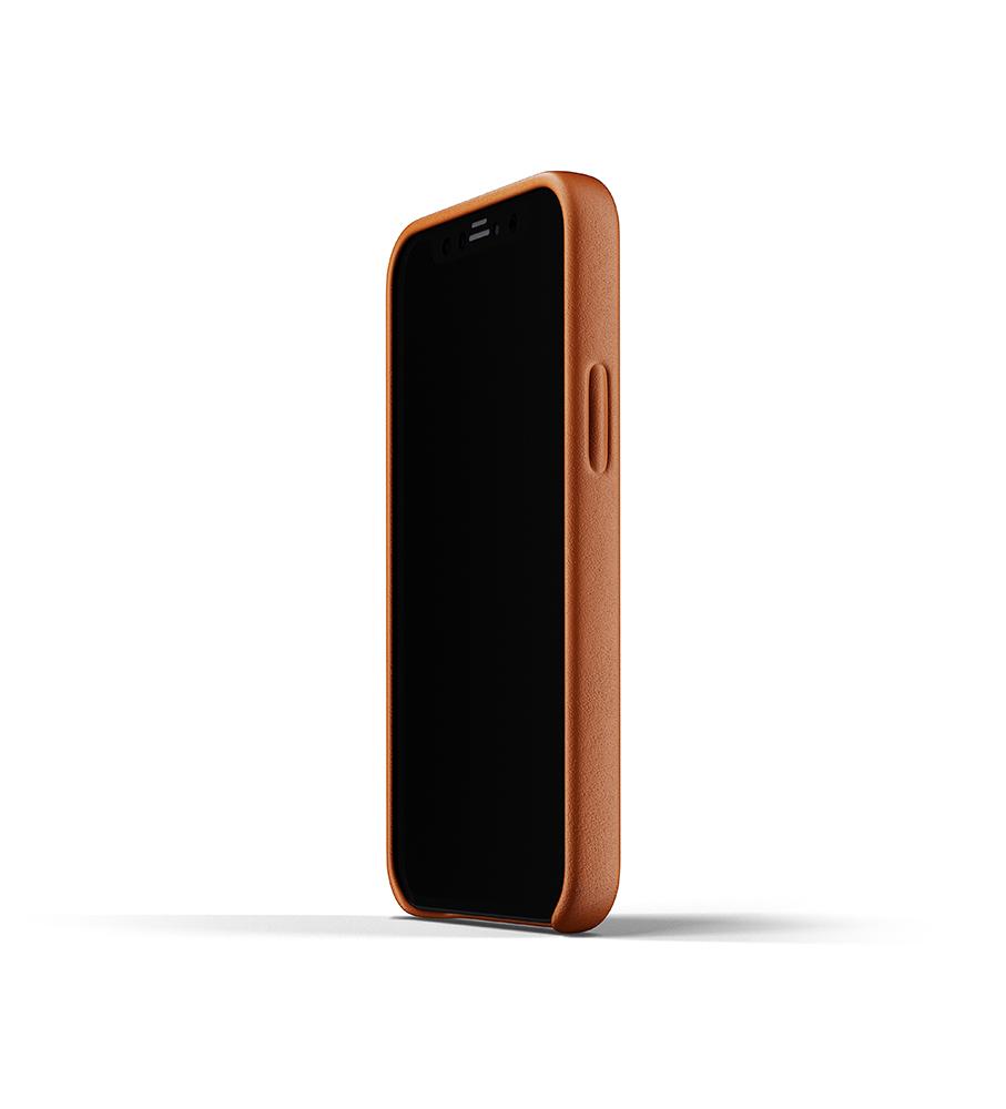 Mujjo Leren Wallet Case iPhone 12 mini Hoesje Tan