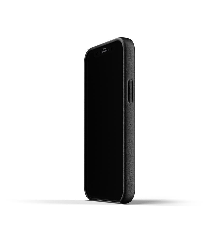Mujjo Leren Wallet Case iPhone 12 mini Hoesje Zwart